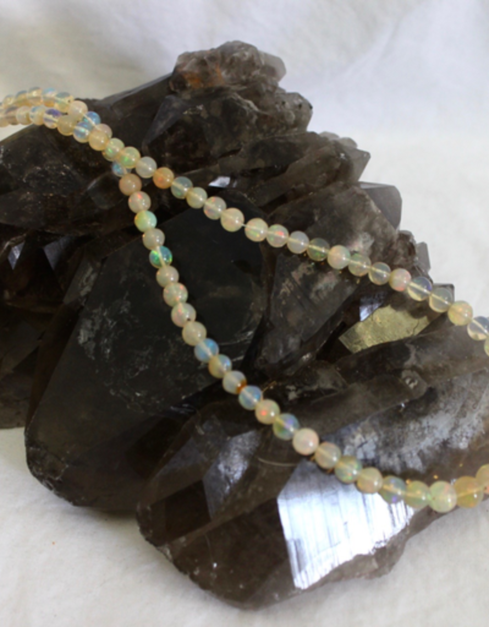 Ethiopian Opal Round Bead Necklace