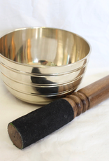 Brass Singing Bowl with stricker ~ Nepal   Notes of A# and D