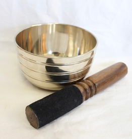 Brass Singing Bowl with stricker ~ Netap   Notes of A# and D