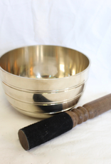 Brass Singing Bowl with striker ~ Nepal   Notes of f_A#