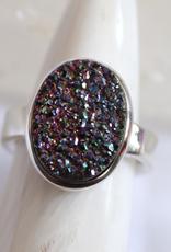 Titanium Druzy Agate Ring