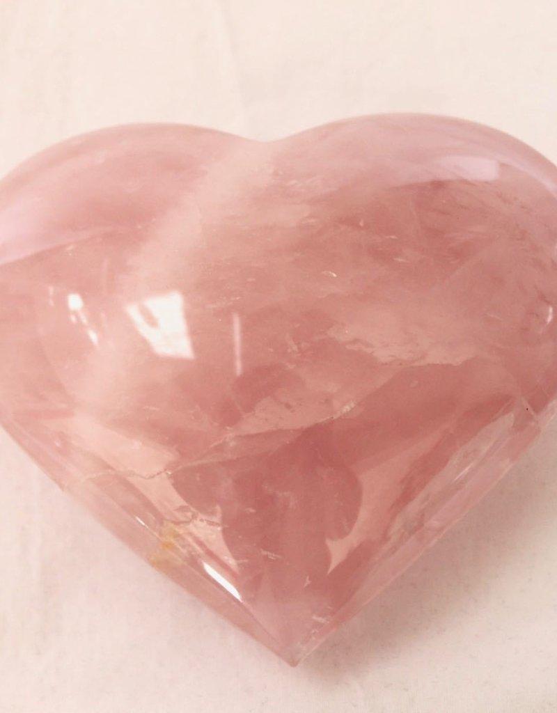 Rose Quartz Heart - Brazil