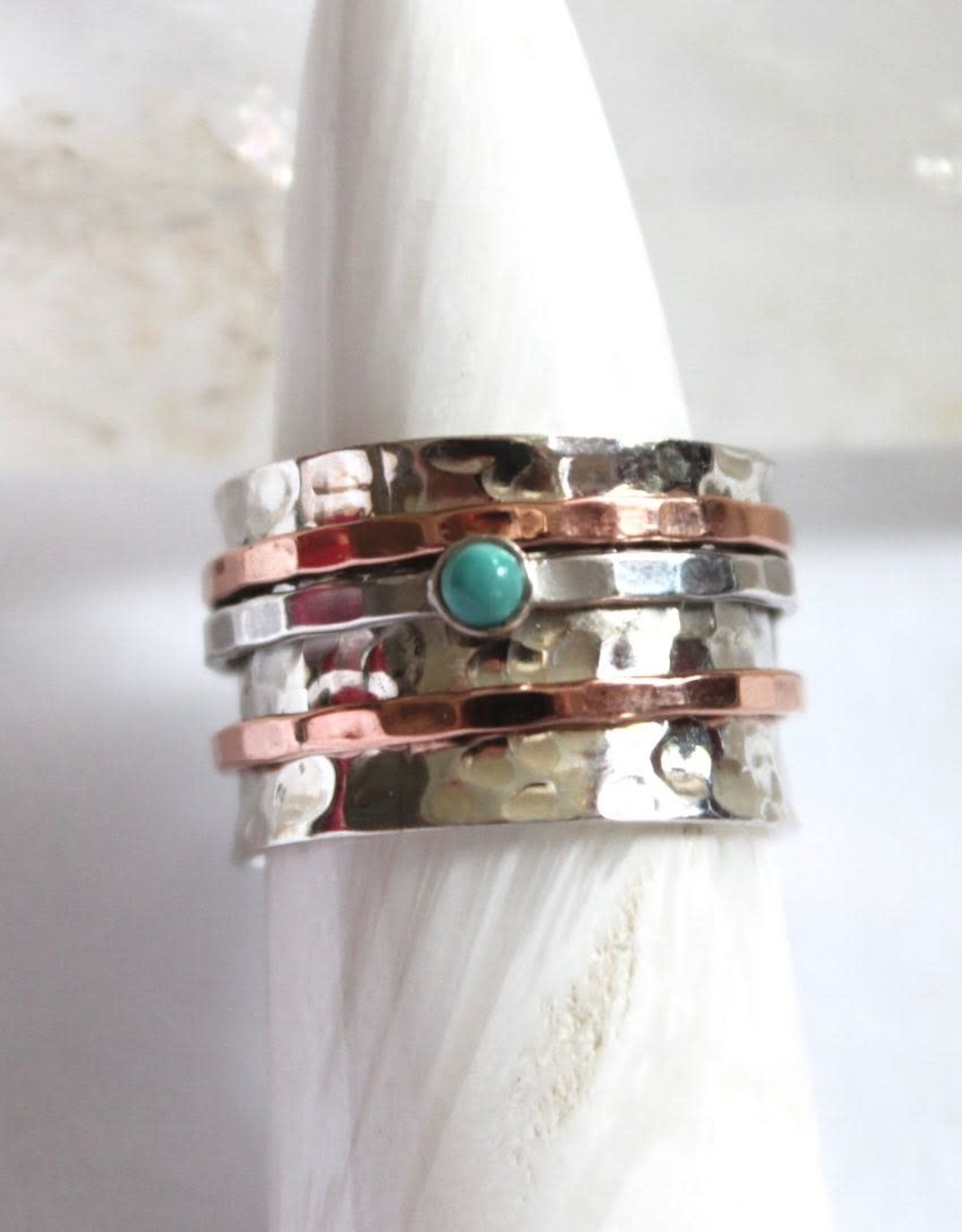 Turquoise Ring ~ Spinner ~ Size 8.5