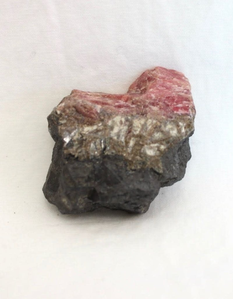 Rhodochrosite Rough with Graphite