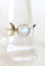 Moonstone Ring with Moons