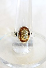 Citrine Ring - Faceted Oval sz 8