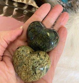 Asterite (Serpentine) Heart for deep Earth healing