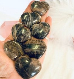 Black Moonstone Hearts ~ India for new beginnings