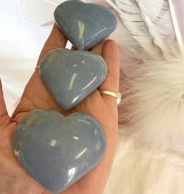 Angelite Hearts ~ Peru for connecting to celestial realm