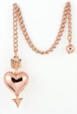 Rose Gold Heart Pendulum