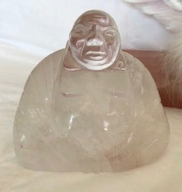 Quartz Buddha with Iron for deep meditation