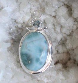 Larimar w/ Blue Topaz Pendant