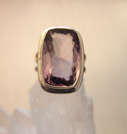 Amethyst Ring ~ Faceted ~ Size 8
