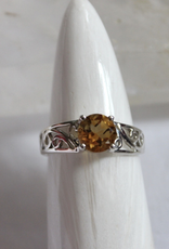 Citrine Ring ~ Faceted ~ Size 8