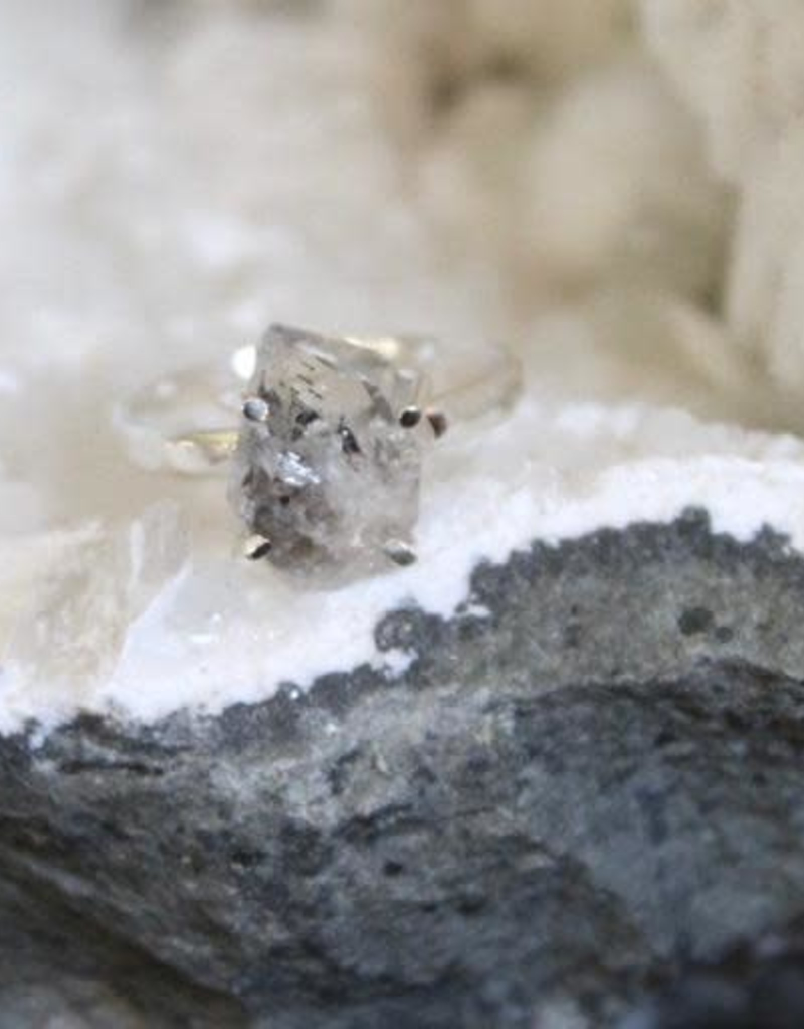Herkimer Diamond Ring ~ Size 7