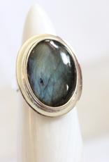 Labradorite Ring ~ Oval ~ Size 6