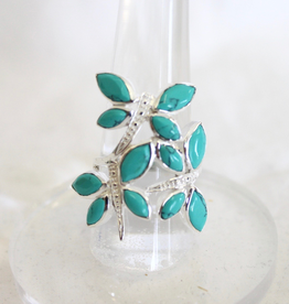 Turquoise Dragonfly Ring ~ Size 8