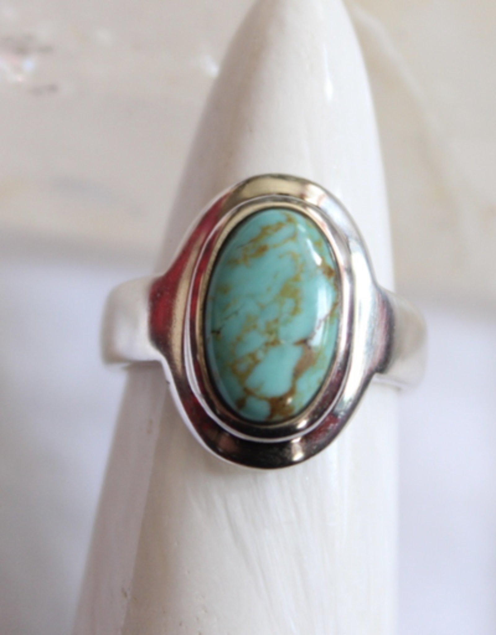 Turquoise Ring ~ Oval ~ Size 5.25
