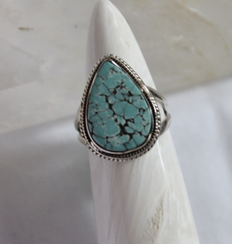Turquoise Ring ~ Tear Drop ~ Size 7