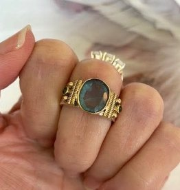 Apatite Ring with Gold size 8