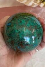Chrysocolla sphere for embodying Divine Feminine energy