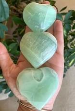 Pistachio Calcite Hearts for peaceful energy
