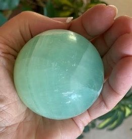 Pistachio Calcite Sphere for peaceful soothing energy