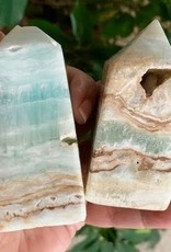Caribbean Calcite Obelisks for watery, flowing energy