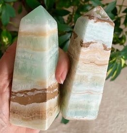 Caribbean Calcite Obelisks for beautiful flowing energy
