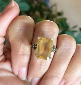 Citrine with Smoky Quartz Ring - Size 7.5