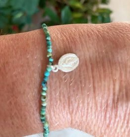 Turquoise Bracelet - Mother Mary