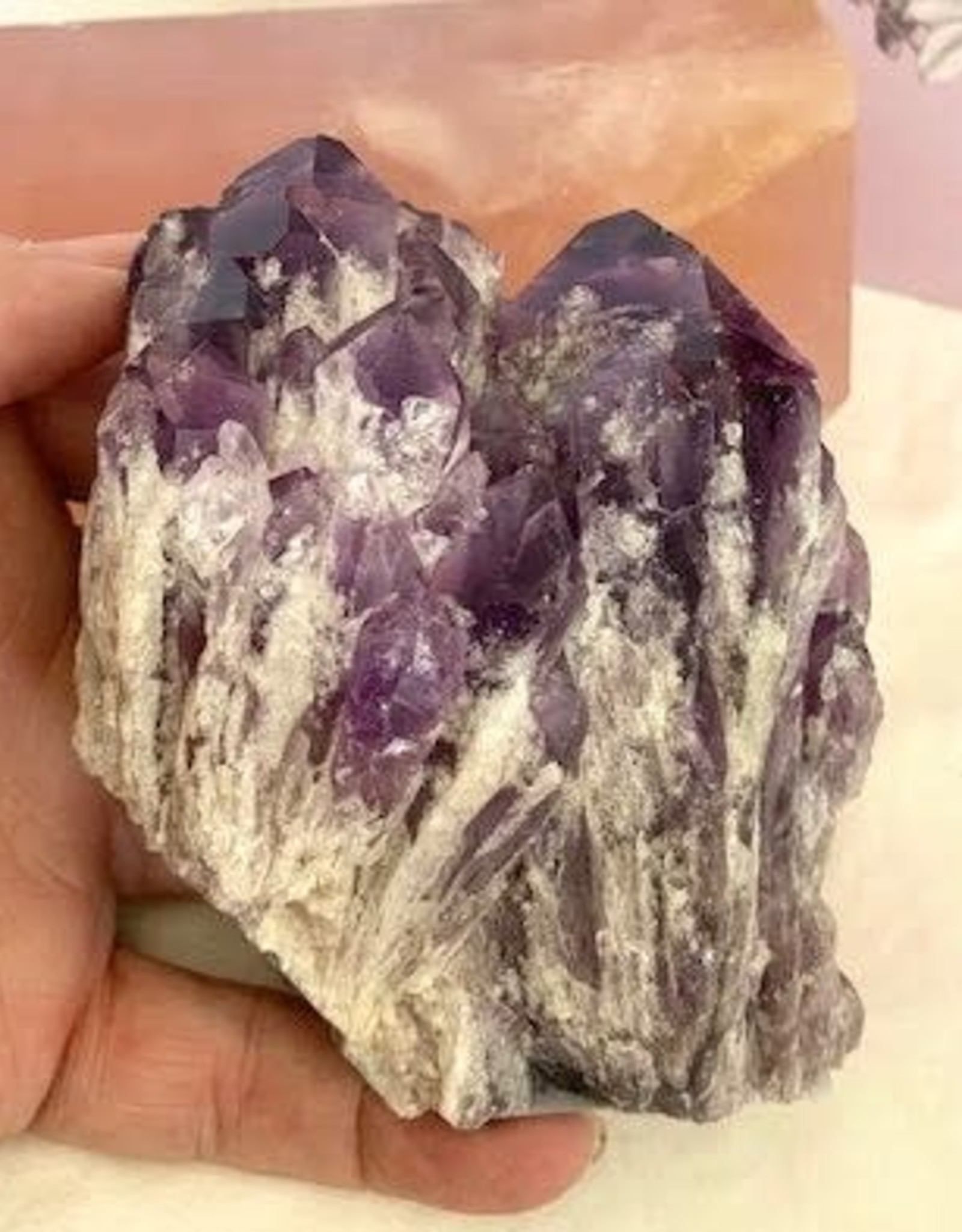 Amethyst Elestial Clusters for Spiritual Connection