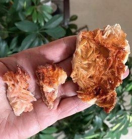 Vanadinite on Barite charged in the Sept New Moon