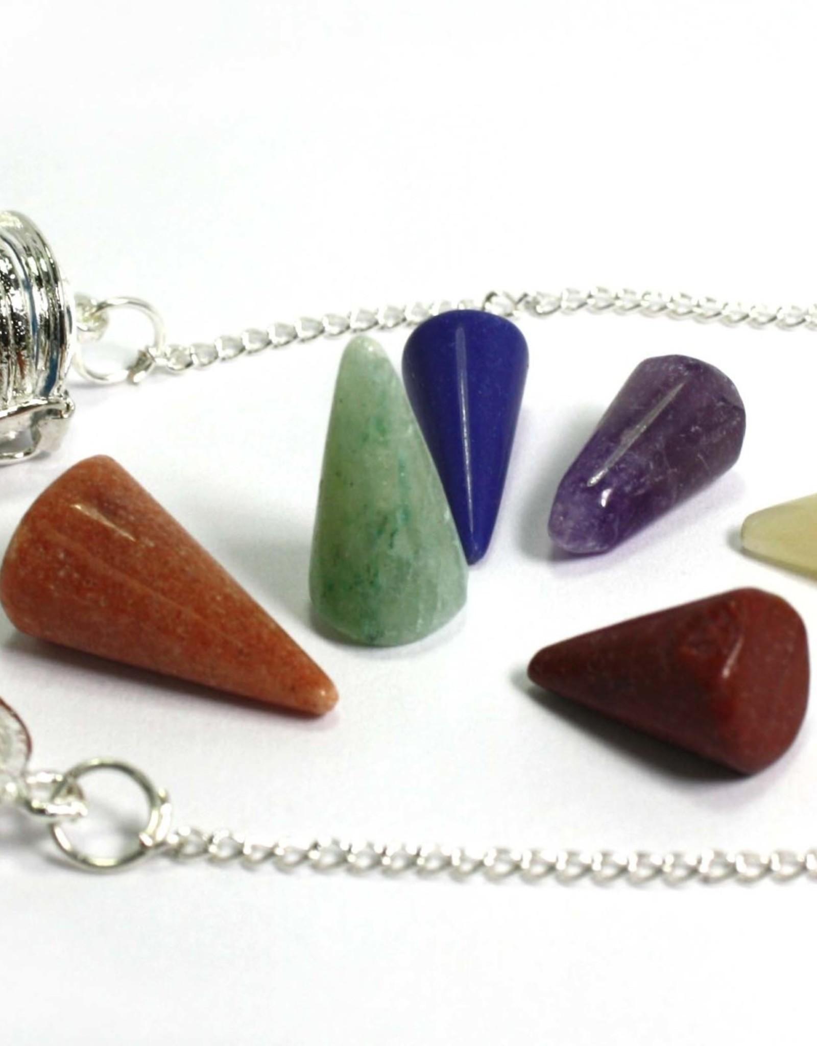 Chakra Pendulum w/ 7 Stones