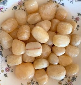 Yellow Calcite Tumbled for energizing