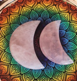 Rose Quartz Quarter Moon charged in the Full October Moon