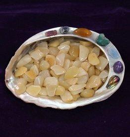 Azeztulite Golden Quartz Tumbled Small