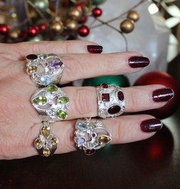 Crystal Goddess Crystal Rings