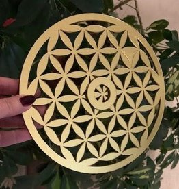 Flower of Life Sphere Stand Grid Base