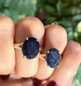 Blue Sapphire Ring sz 6 or 8.75