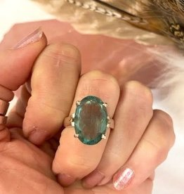 Fluorite Ring sz 6.5