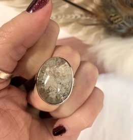 Lodolite (Shaman Dream Stone) Ring Cabochon Oval sz 9