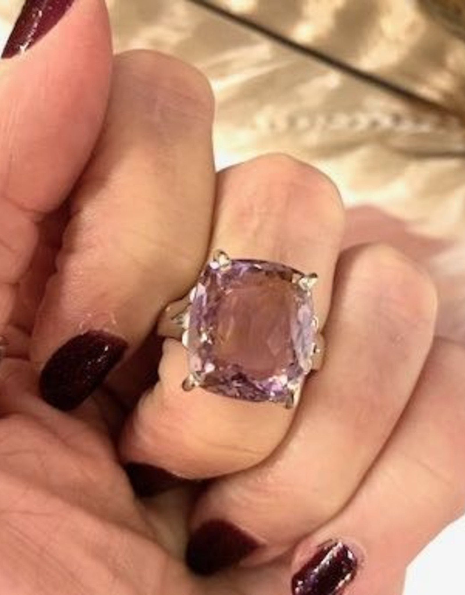 Ametrine Ring Faceted Oval sz 8