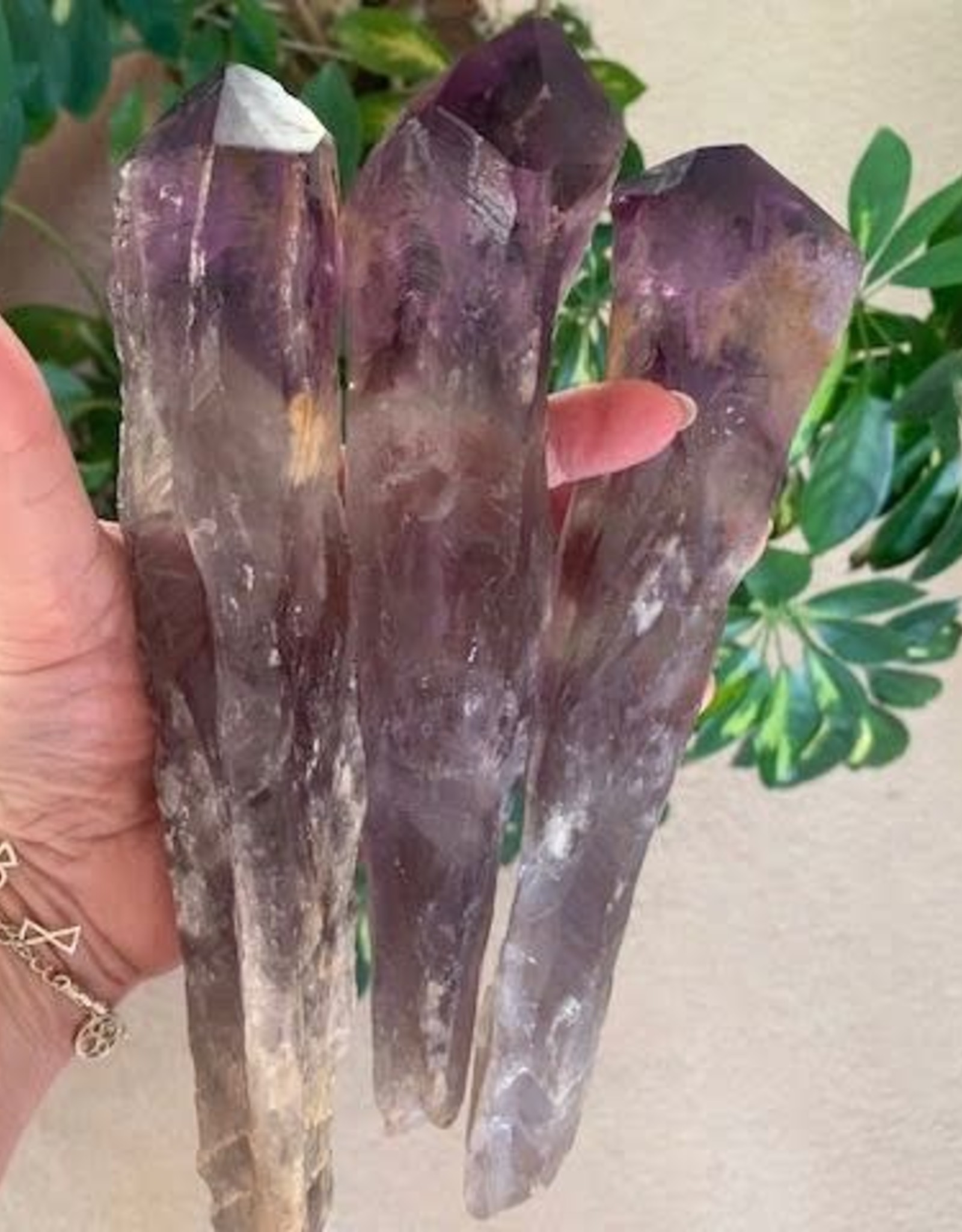Amethyst Phantom Elestial Natural Points for powerful connection