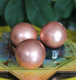 Copper Spheres for spiraling energy