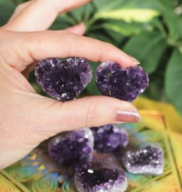 Amethyst Cluster Hearts for luscious connection