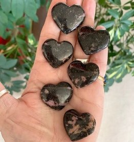 Rhodonite Hearts for grounded emotional healing