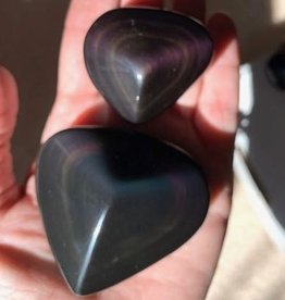 Rainbow Obsidian Hearts for compassion