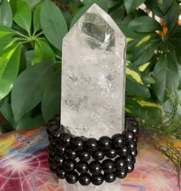 Crystal Bracelet Shungite for wellness and clearing