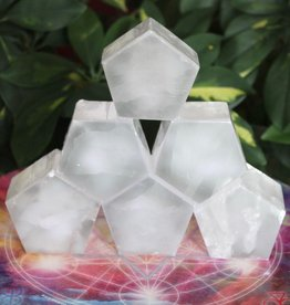 Selenite Pentagons Shapes